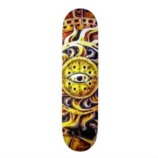 Skateboard Art d'aerographe de temple d'un dieu soleil