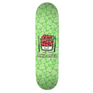 Skateboard Customisable Aku de baguettes de salade de poisson cru d'Hawaï