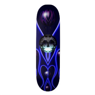 Skateboard Customisable La fractale de bulle et de crâne conçoivent