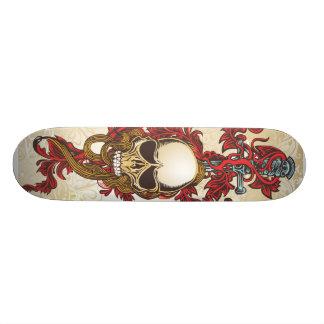 Skateboard Customisable Planche à roulettes d'épée de crâne