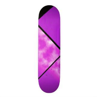 Skateboard Customisable Plate-forme personnalisable 0 de ciel rose pourpre