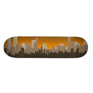 Skateboard Ligne urbaine planche à roulettes (jaune) de ciel