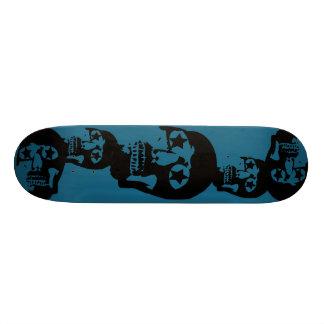 Skateboard Old School 18,1 Cm Grande planche à roulettes de Teal de crânes