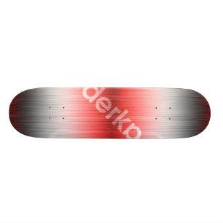 Skateboard Old School 18,1 Cm Noir blanc rouge de gradient de Derka