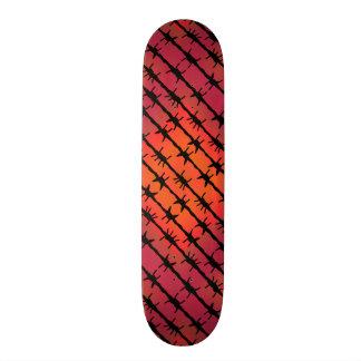 Skateboard Old School 21,6 Cm Barbelé rouge Barb de rouille clôturant l'orange