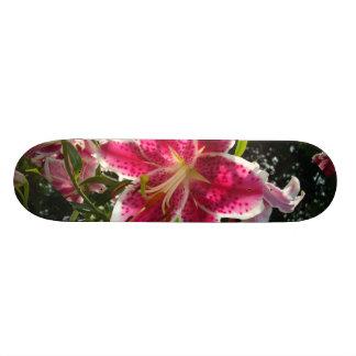 Skateboard Old School 21,6 Cm Hémérocalles roses