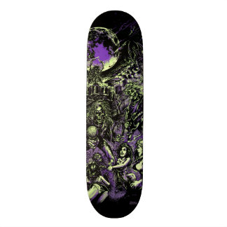 Skateboard Old School 21,6 Cm Les zombis squelettiques morts de Rockin