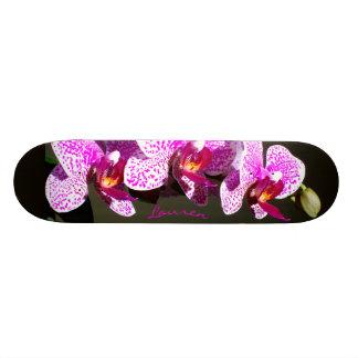 Skateboard Old School 21,6 Cm Orchidées roses - monogramme