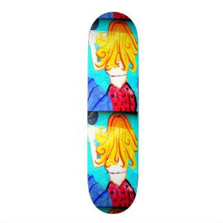 Skateboard Old School 21,6 Cm planche à roulettes blonde de sirène
