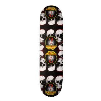 Skateboard Old School 21,6 Cm Planche à roulettes de crâne de podcast de Curioso