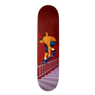 Skateboard Old School 21,6 Cm Planche à roulettes de morcellement de rail