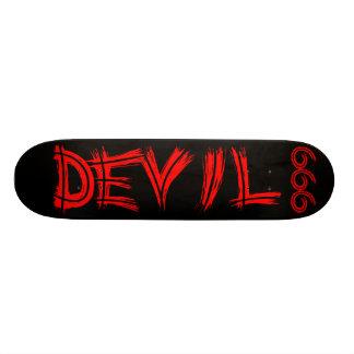 Skateboard Old School 21,6 Cm Planche à roulettes du diable 666