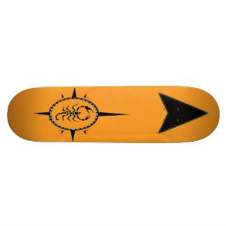 Skateboard Old School 21,6 Cm Planche à roulettes tribale de scorpion