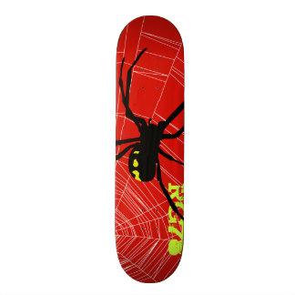 Skateboard Patineta Spider et Réseau Wb