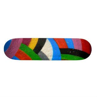 Skateboard Planche à roulettes d'arc-en-ciel