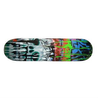 Skateboard Planche à roulettes de crâne de Siko
