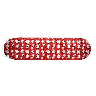Skateboard Planche à roulettes rouge de conception d'étoiles