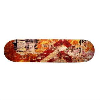 Skateboard planche à roulettes urbaine de graffiti