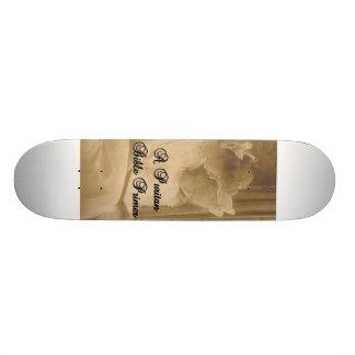Skateboard Une planche à roulettes d'amorce de bible de