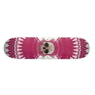 Skateboards Conception tribale de fractale de crâne gothique :