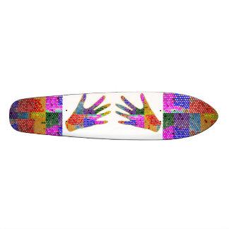 Skateboards Customisés Des gestes de main - serrez-vous la main ou offrez