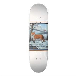 Skateboards Customisés Fox rouge