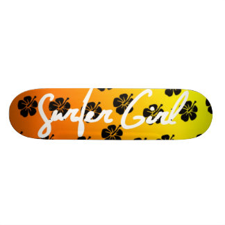 Skateboards Cutomisables Planche à roulettes de fille de surfer dans