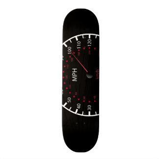 Skateboards Personnalisables noir de planche à roulettes avec le tachymètre