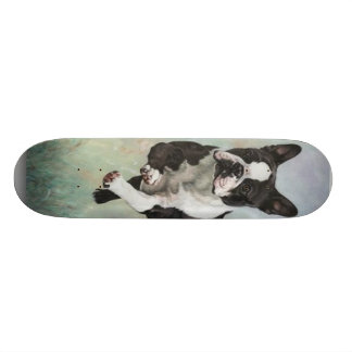 Skateboards Personnalisables Planche à roulettes de Boston Terrier