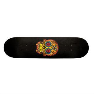 Skateboards Personnalisables Planche à roulettes de crâne de sucre