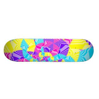 Skateboards Personnalisés Rayures de fractale d'amusement