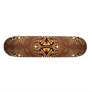 Skateboards Planche à roulettes en bronze de fractale de