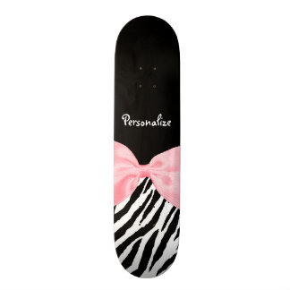 Skateboards Ruban rose-clair doucement Girly chic d'impression