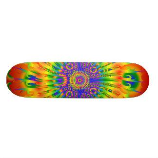 Skateboards Spirale d'arc-en-ciel/conception de fractale :