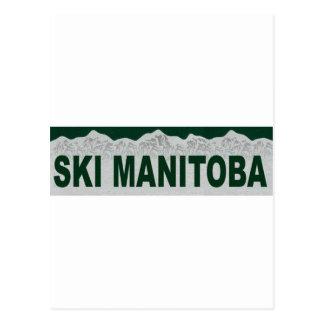 Ski Manitoba Carte Postale