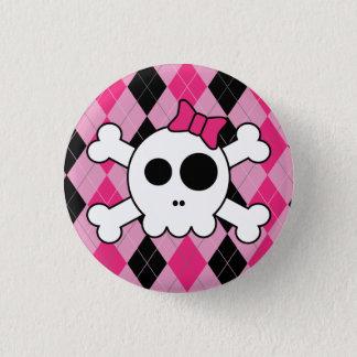 Skully et Jacquard mignons Badge Rond 2,50 Cm