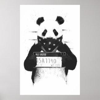Slechte panda poster