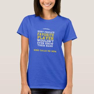 Slip kangourou foncé préféré de chemise de joueur t-shirt