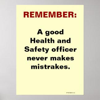 Slogan humoristique de santé et sécurité posters
