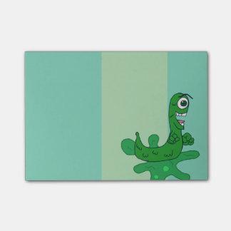 Sluggo, le vert agrègent l'escargot muté post-it®