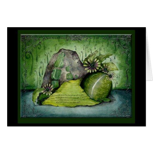 Smaragdgroene de giftkaart van de Verjaardag van h Wenskaarten