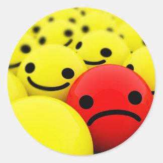 smiley 3D Sticker Rond
