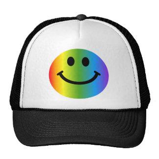 Smiley d'arc-en-ciel casquettes
