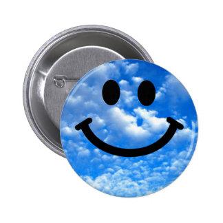 Smiley de ciel badge rond 5 cm