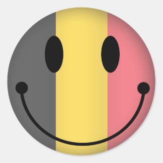Smiley de la Belgique Autocollants Ronds