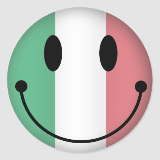 Smiley de l'Italie Sticker Rond