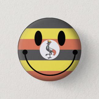 Smiley de l'Ouganda Badge Rond 2,50 Cm
