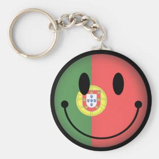 Smiley du Portugal Porte-clé Rond