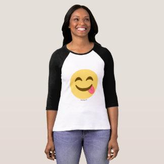 Smiley Emoji avec la langue bon appétit T-shirt