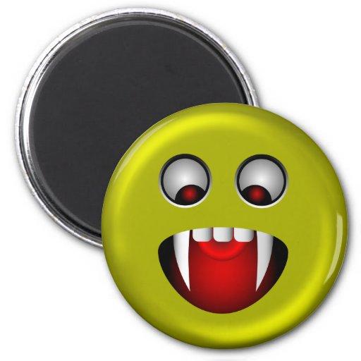 Smiley mauvais magnets pour réfrigérateur
